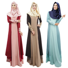 New Muslim abaya dress Islamic clothing for women fashion contract color islamic dress national features clothes abaya WL8402-1