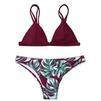 Summer Sexy Brazilian Swimsuit Women's   swimming   suit Padded Halter Bikini Set Push Up Swimwear   Swimming   Mini Bikini 2018