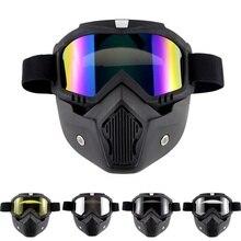 Professionale Retro Del casco del Motociclo Goggle Maschera Vintave maschera viso aperto casco cross casco occhiali di Protezione Gear
