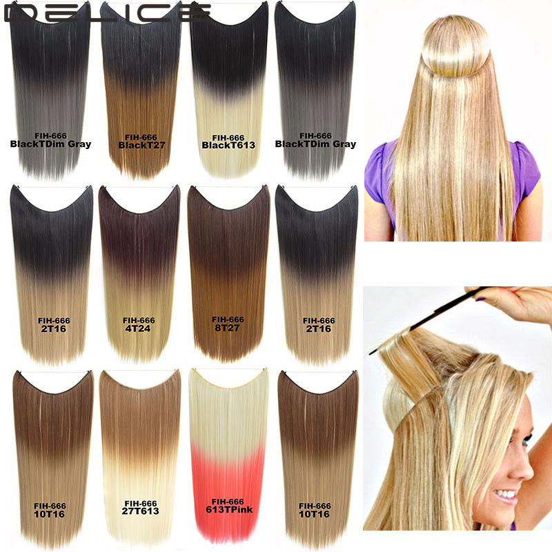 22inch women long straight hair extensions color gradient secret 22inch women long straight hair extensions color gradient secret miracle invisible wire synthetic hairpieces blacktdim gray on aliexpress alibaba pmusecretfo Images