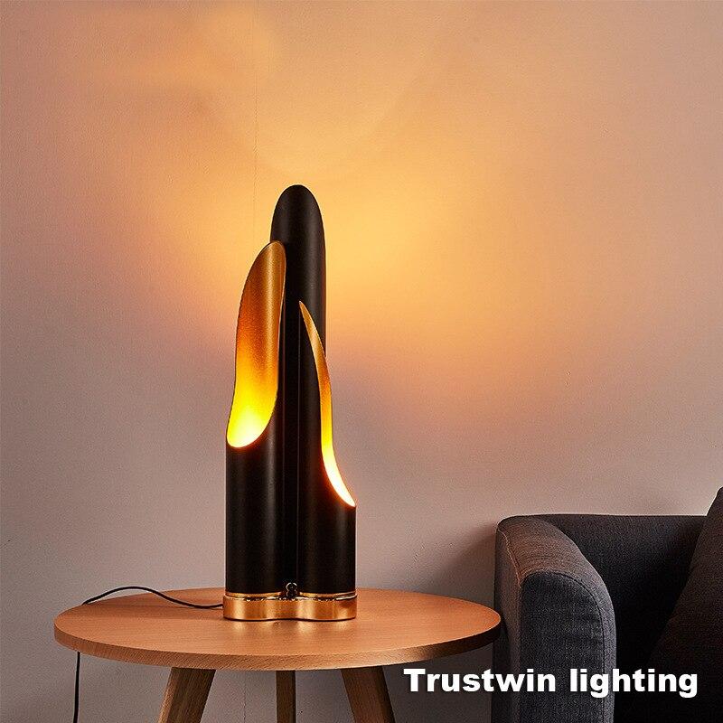 Led-lampen Replik Delightfull Coltrane Tisch Licht Lampe 3 Aluminium Rohr Dekorative Kreative Post Moderne Goldene Schwarz Schreibtisch Tisch Lampe Licht
