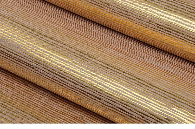Grass Paper Wall Covering : Jute wall covering grasscloth home decor gold foil