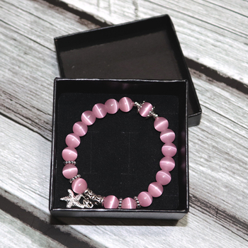 New Arrival Women Opal Bracelet Natural Stone Beautiful 5 Colors Smooth Charm Braslet Cute Starfish Pendant Braclet Jewelry Gift 3