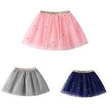 Юбка-пачка принцессы со звездами и блестками для танцев; модная детская юбка с блестками; вечерние юбки пачки для балета для девочек; шифоновые юбки пачки для детей
