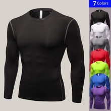 New Quick Dry Compression T shirts Fitness Tights Running Shirts Gym Sportswear Basketball Mens Tshirts Bodybuilding