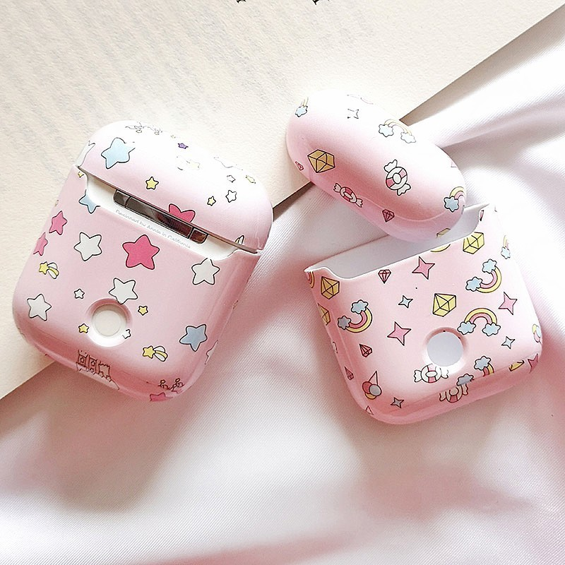 Image 3 - Cute Unicorn Stars Earphone Case For apple airpods Bluetooth Wireless Hard Charging Box Headphone Accessories Protective Cover-in Earphone Accessories from Consumer Electronics