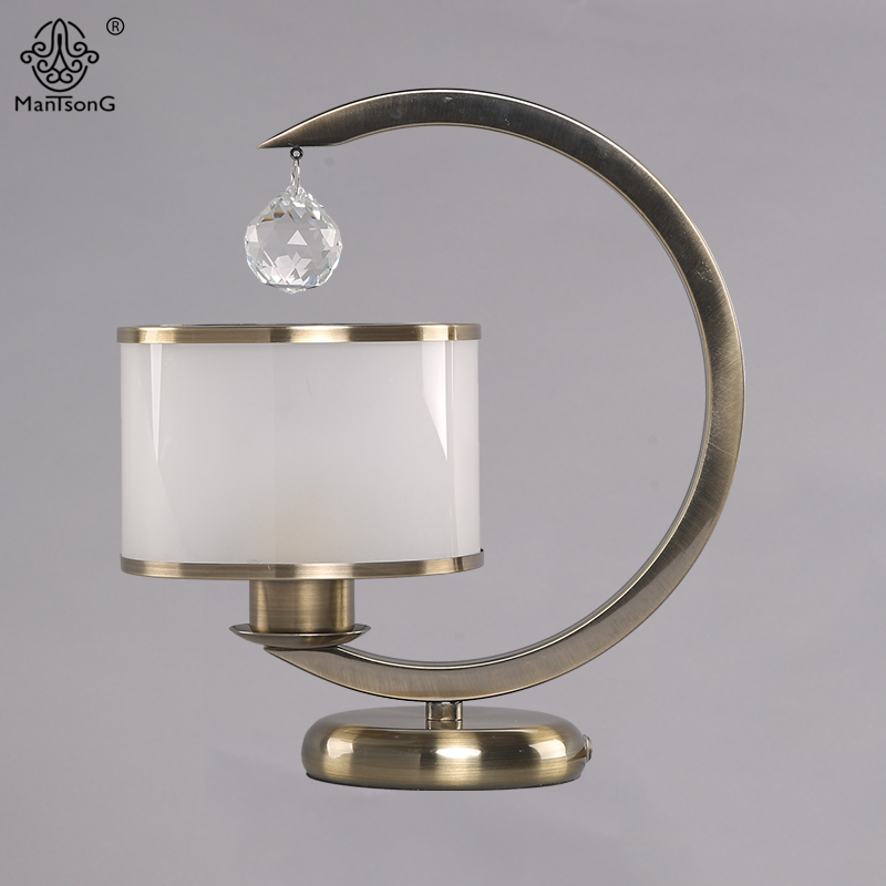 Modern Crystal Table L&s for Bedroom Luxury Crystal Glass Table L& Bedside Light Euro Style Vintage Decoration Desk L&-in Table L&s from Lights ... & Modern Crystal Table Lamps for Bedroom Luxury Crystal Glass Table ...