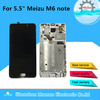 Original M&Sen For 5.5 Meizu M6 note LCD screen display+ Touch panel Digitizer with frame Free shipping