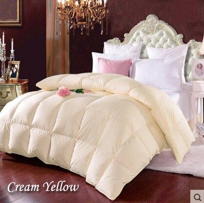 White Duck Down Comforters cubrecamas 2 plazas Winter Quilt Yellow Comforters piumoni matrimoniali edredom couette hiver edredon