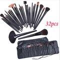 Free Shipping Brand New Professional 32pcs Makeup Brushes tools kit pinceis maquiagem & tools Set Brand Make Up bamboo Brush