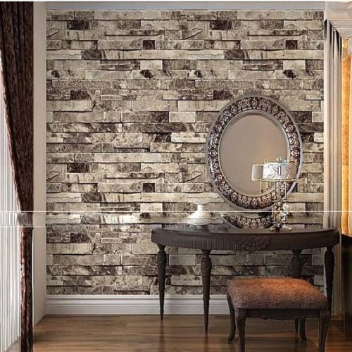 Q QIHANG Three Dimensional Wallpaper Brick Wall Wallpaper