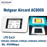 Разблокирована Netgear Aircard AC800S 4 г LTE Cat.9 мобильную точку доступа Wi Fi роутера модем