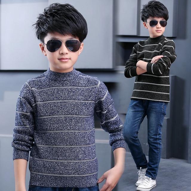 2 3 4 5 6 7 8 9 10 11 Anos Meninos camisola de Malha de Algodão Crianças Casacos de Lã Crianças Casuais Roupas Outono Meninos Grandes Coleção