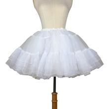 Organza Korte Petticoat Lolita Wit/Zwart Gelaagde Tutu Rok voor Vrouwen