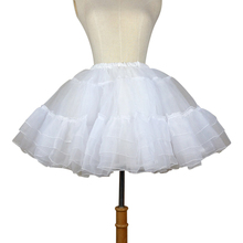 Loligals Organza Short Petticoat Lolita White/Black Layered Tutu Skirt for Women