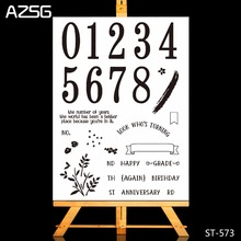 New Arrivel Numbers and Greetings Clear Silicone Stamp/Seal for DIY Scrapbooking/photo Album Decorative Stamp Sheets