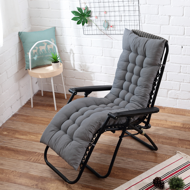 Long cushion Garden Lounger Cushion Thicken Foldable Rocking Chair Cushion Tatami mat long Chair Couch Seat Cushion Pads(China)
