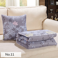 Modern Style Of Gray Prints Pattern Soft Bolster Blanket Two Uses Cushion Good Quality Pillow Summer