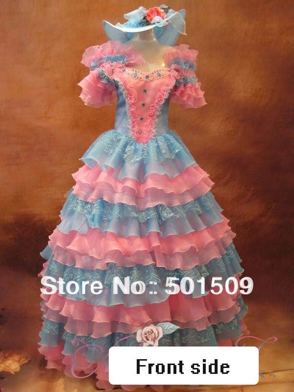 Luxe strass médiévale Renaissance robe reine robe Vampire journaux Costume victorien/Marie Antoinette/guerre civile/Belle balle