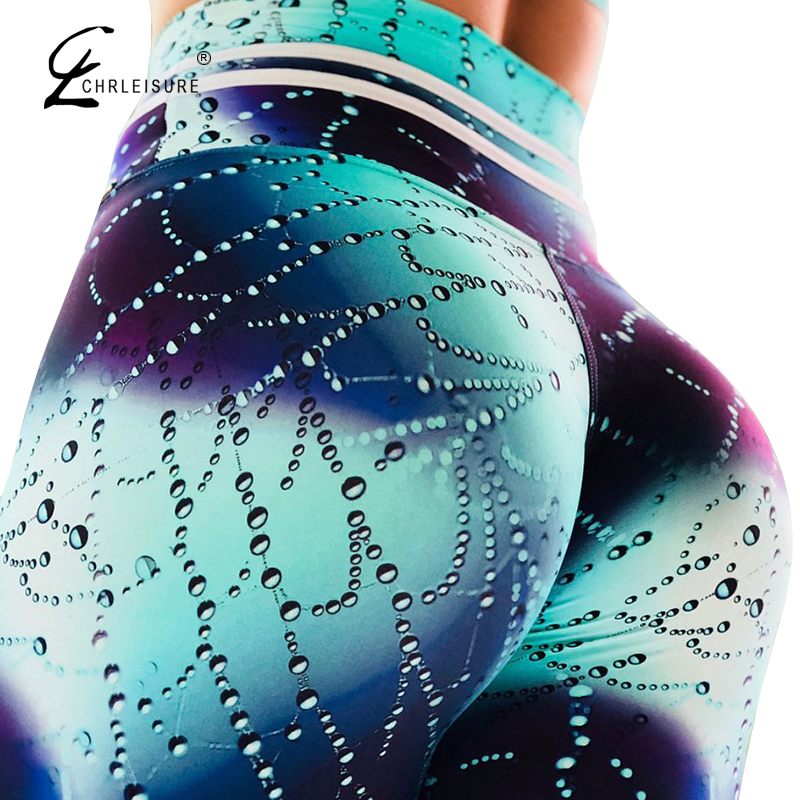 CHRLEISURE Fashion Digital Printed Leggings Women Fitness Pants Leggings Femme Sexy High Waist Push Up Leggins Feminina XS-XL
