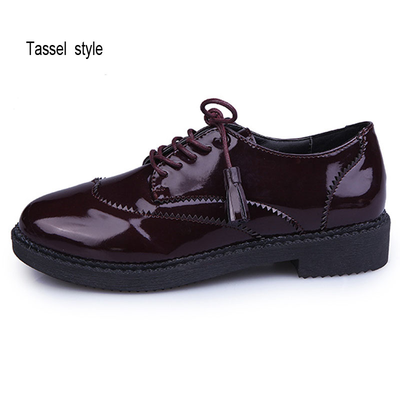 748180d618b84c Chaussures Red Souple Casual Dropshipping Lacent Cuir New Appartements  Gland Style black Rétro Printemps British Oxford ...