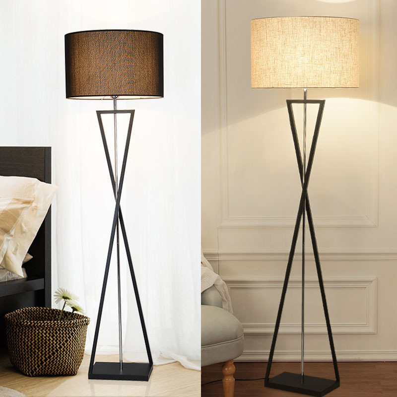 Art Deco Fabric Shade on Steel Stand Floor or Table Lamps Desk & Table Lamps Floor Lamps