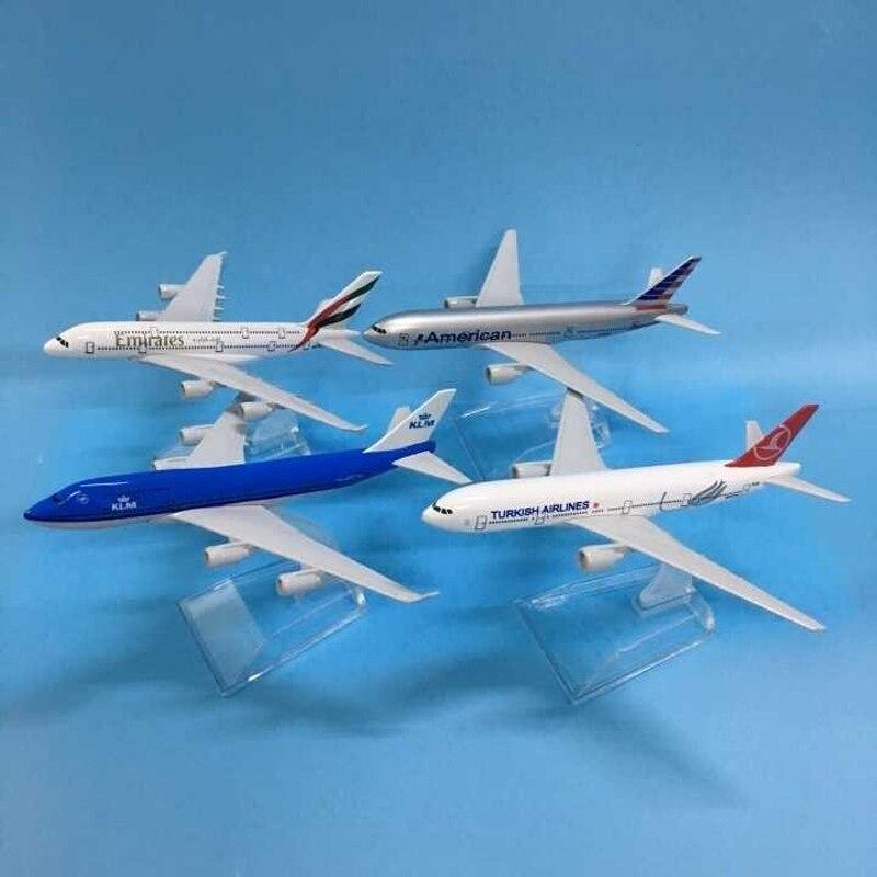 JASON TUTU Aircraft Model Diecast Metal 1:400 Emirates Airbus A380 16cm Airplanes Plane Model Airplane Model Turkey Boeing 777