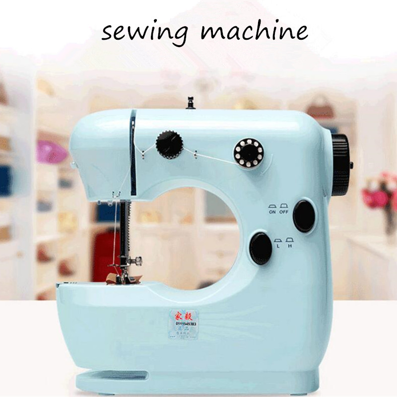 Beautiful Portable Mini Sewing Machine Hand Foot Double Thread Classy Portable Mini Sewing Machine