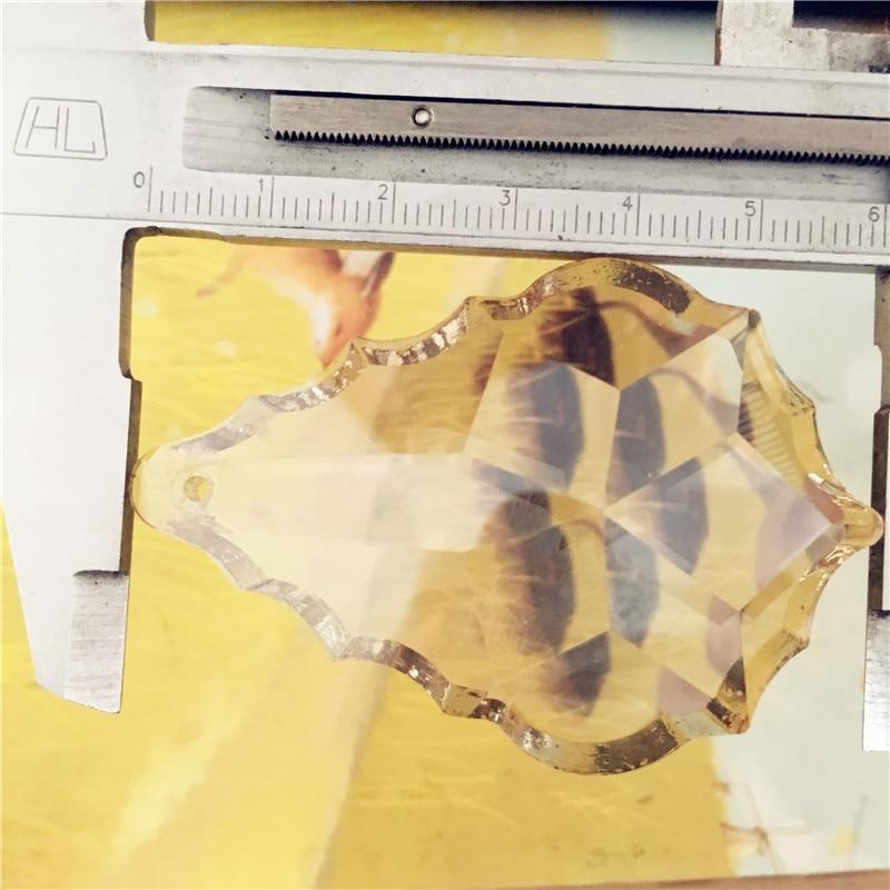 Best Quality 63mm 102Pcs Cognac Crystal Maple Leaf Chandelier Pendants Crystal Trimming Living Room Indoor Lighting Lamp Parts