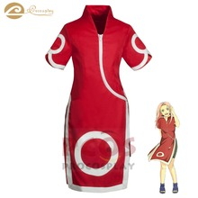 цена на Procosplay Uchiha Sakura cosplay child costume cheongsam red qipao cosplay dress  Naruto Cosplay kid Costume mp000053