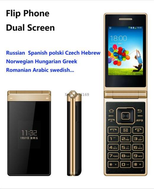 Unlock Big Keypad Old Man Mobile Senior Flip Phone Cellphone Touch Screen GSM Dual 2 SIM