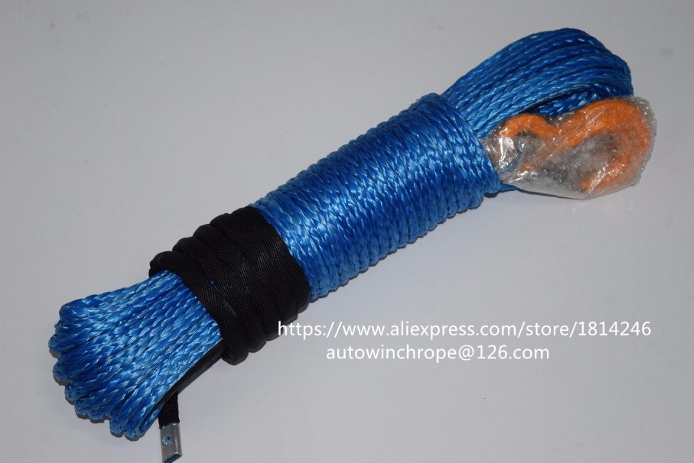 Good Quality Blue 8mm*30m Synthetic Winch Rope,Towing Rope,UHMWPE Rope,Winch Rope Extension,Winch LineGood Quality Blue 8mm*30m Synthetic Winch Rope,Towing Rope,UHMWPE Rope,Winch Rope Extension,Winch Line