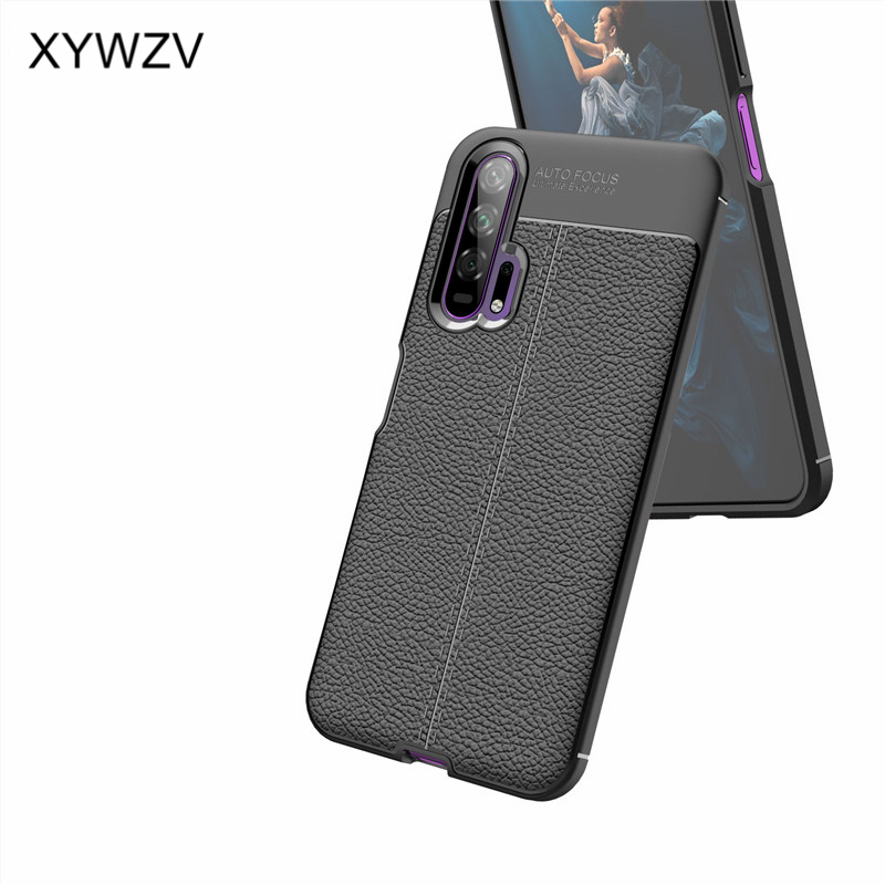 Image 3 - For Huawei Honor 20 Pro Case Luxury PU leather Rubber Soft Silicone Phone Case For Huawei Honor 20 Pro Cover For Honor 20 Pro-in Fitted Cases from Cellphones & Telecommunications