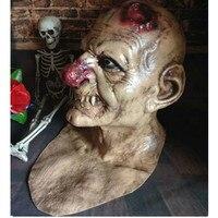 Straszne Zombie Horror Maska lateksowa Red Nose Cosplay Pełna Twarzy Dorosłych Duch Stroną maski na Halloween Rekwizyty Terror Masquerade Twarzy maska
