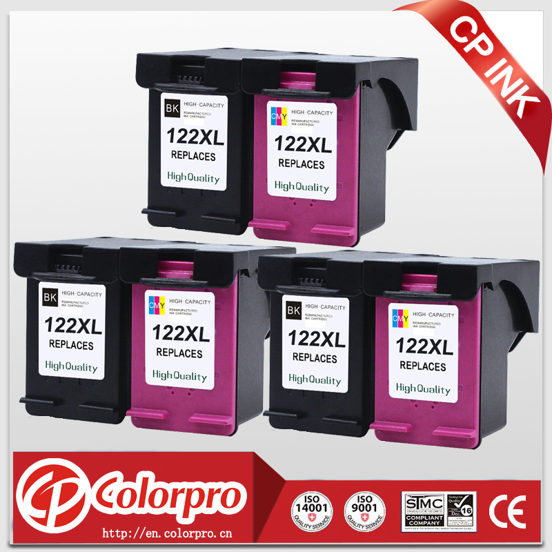 CP 122 Wholesale for <font><b>HP122XL</b></font> 122 Ink Cartridge for HP Deskjet 1050a 1050 2050 2050s 3050A 3052A 3054 1010 1510 2540 (3BK/3C) image