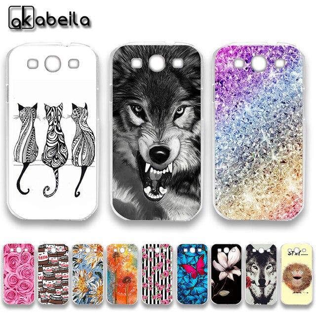 AKABEILA Soft TPU Plastic Cases For Samsung I9300 Galaxy S III LTE S3 I9305 I9308 I747 T999 GT-I9300 GT-I9301 S3 Neo Covers Bags