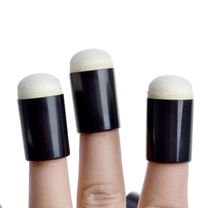 Image 4 - ARSTY Sponge Finger Daubers Foam With Box Finger Painting Craft Set Finger Paint Drawing Sponge Foam Finger Chalk Ink