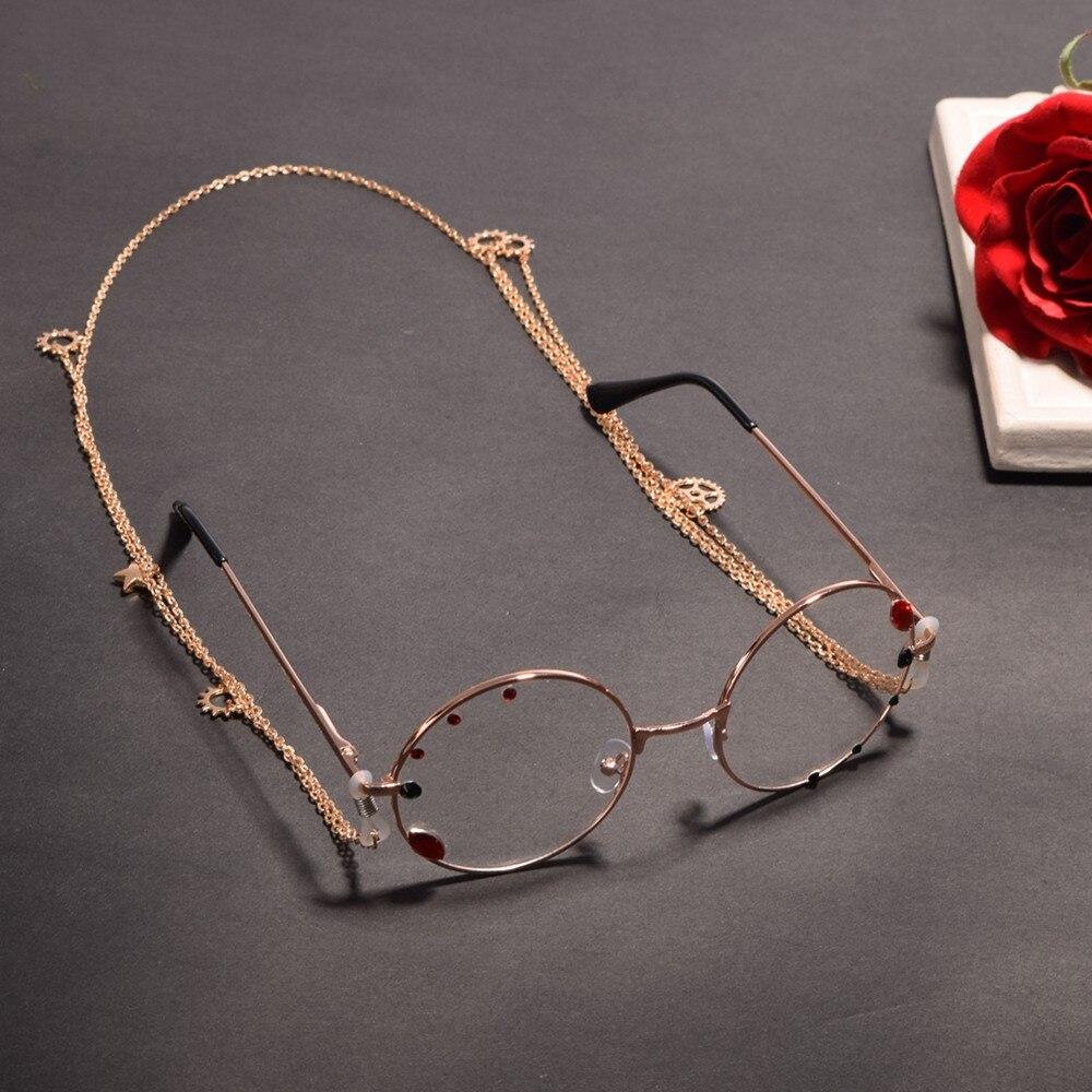 1 pz Donne Dell'annata Steampunk Gothic Lolita Glassess Occhiali con Ingranaggio Della Catena Del Partito di Cosplay Accessorio