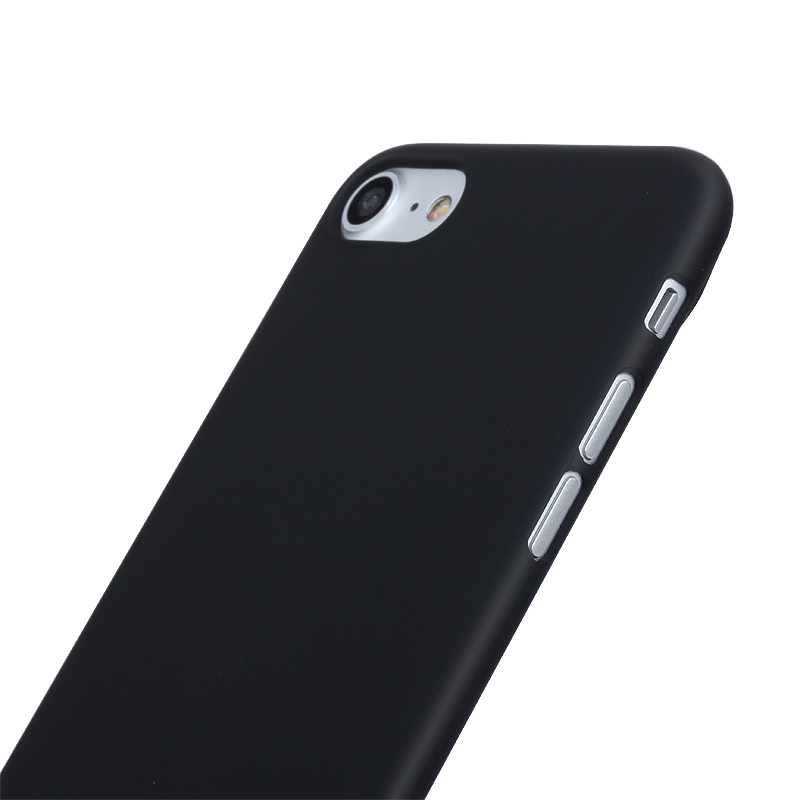 Luxury Ultra Thin Case For iPhone 7 Xinbo 0 8 mm Slim Transparent Plastic Hard Mobile Cover For iPhone 7 Phone Accessory Black in Fitted Cases from Cellphones Telecommunications