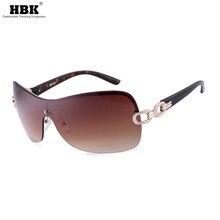 HBK-gafas de sol de gran tamaño para mujer, anteojos de sol femeninos con gradiente, de marca Vintage, estilo veraniego, con protección UV, 2019