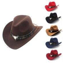 Ethnic Style Western Cowboy Hat Women\'s Wool Hat Jazz Hat Western Cowboy Hat Hot Selling ethnic style western cowboy hat women s wool hat jazz hat western cowboy hat hot selling