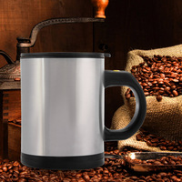 1Pc 400Ml Mug Automatic Electric Lazy Self Stirring Mug Automatic Coffee Milk Mixing Stirring Self Stainless