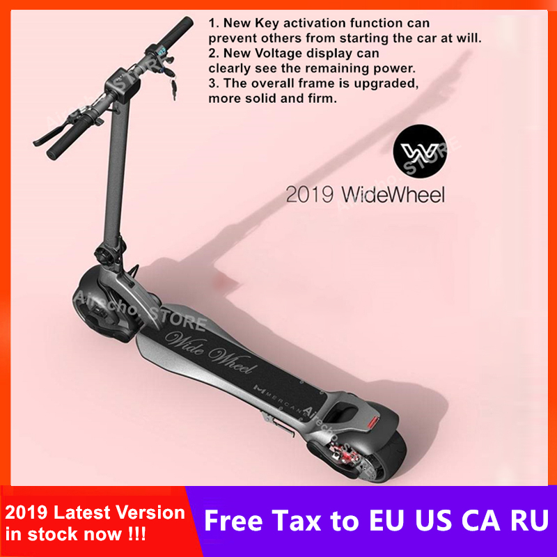 2019 Mais Recente Mercane WideWheel Inteligente Elétrica Scooter De Roda Grande 48 V 500 W/1000 W Kickscooter Motor Duplo Leve skate