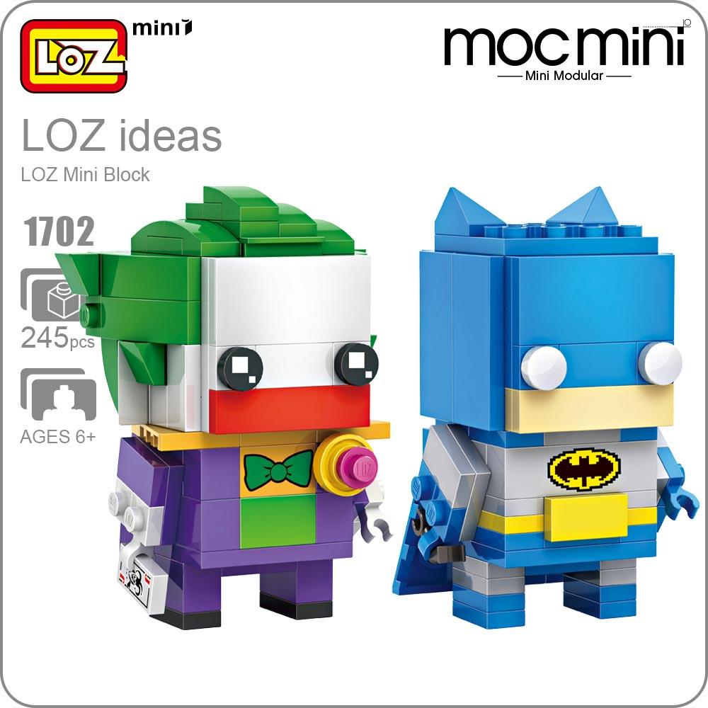 LOZ ideas Mini Block Bricks Model Action Figure Doll Self-Locking ABS Toys DIY Gift for Children Super Hero Assemble Bricks 1702