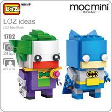 Idéias Mini Bloco LOZ Tijolos Modelo Figura de Ação Boneca Auto-Bloqueio ABS DIY Brinquedos Presente para As Crianças Super Herói Montar Tijolos 1702