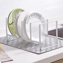 купить Multi-functional kitchen storage block tools pot lid cover cutting board knife dish plate holder rack kitchenware accessories дешево