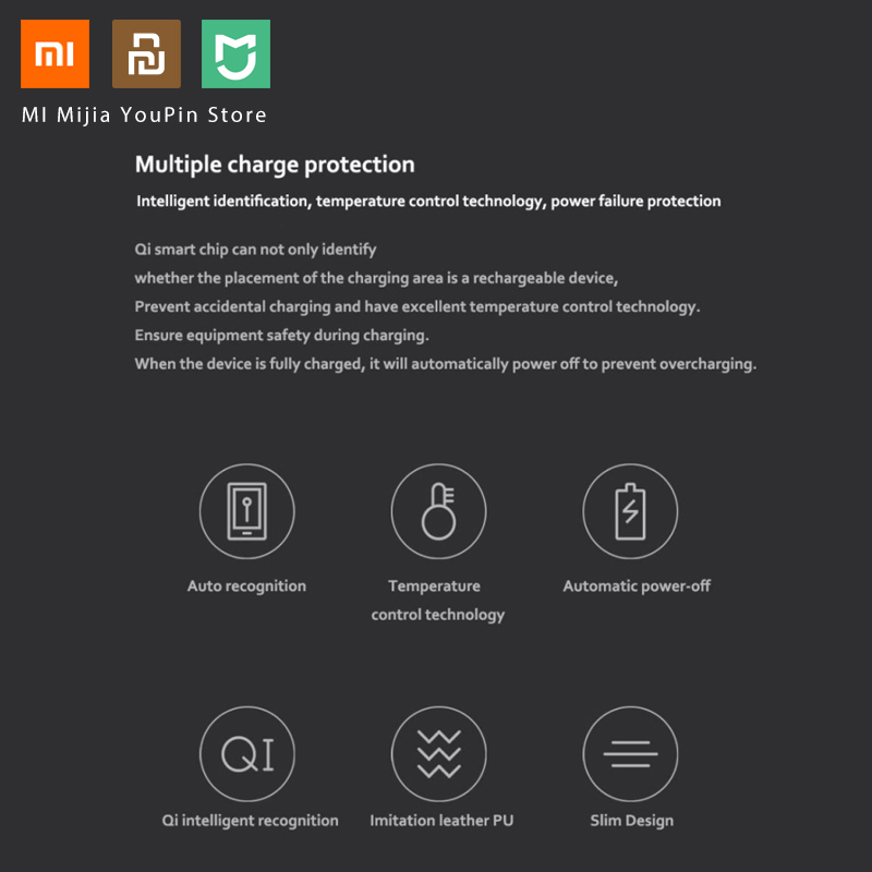 Image 4 - Original Xiaomi MIIIW Qi Wireless Fast Charger PU Leather Mouse 