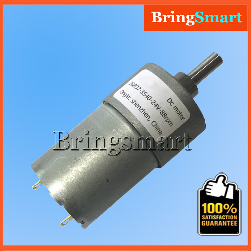 JGB37-3540 DC Gear Motor 24V DC Reducer Motor High Speed Low Noise High Torque 1-60kg.cm Mini Motor aiyima all new 310 dc micro motor 12v gear motor low speed high torque low noise totally enclosed pass technical testing
