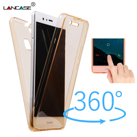 LANCASE for Huawei P8 lite P9 lite Case Silicone Clear TPU Full Body Touch Fundas Capa Cover for Huawei P8 Case Ultra Thin Coque