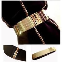 2014 New Gold Belt For Women Metal Plated Luxury Gold Cummerbund Designer Belts For Dress